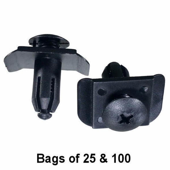 Mazda / Nissan Trim Retainer Clips - Interchange: Auveco 16843 Mazda BF82-50-233 Nissan 01553-01393