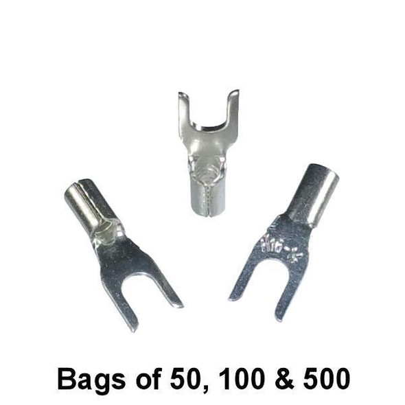 Non Insulated Fork Terminal (#6 Stud) 16-14