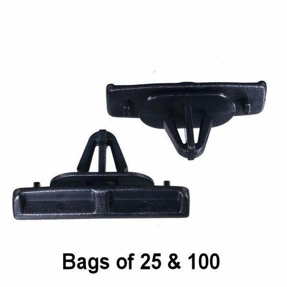Chrysler 10MM Black Moulding Clip - Interchange: Auveco 20700 Dorman 963-525 Chrysler 55156447AB