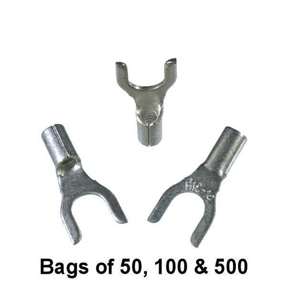 Non Insulated Fork Terminal (#10 Stud) 16-14