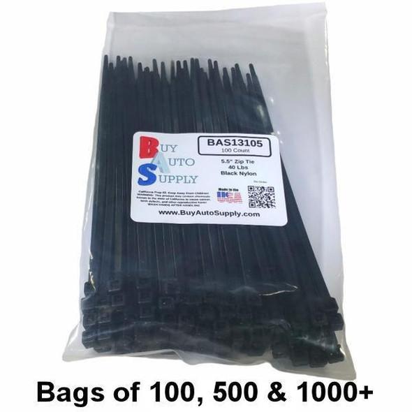 Bulk 5.5 Inch Zip Ties (40 Lbs)- USA Made - BAS13105 - from Buy Auto Supply