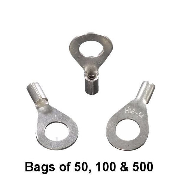 """Non Insulated Ring Terminal (1/4"""" Stud) 16-14"""