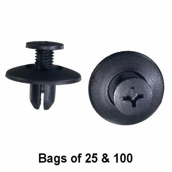 GM / Toyota Trim Push Retainer Clips - Interchange: Auveco 19128, Toyota 90467-07044, GM 96064506