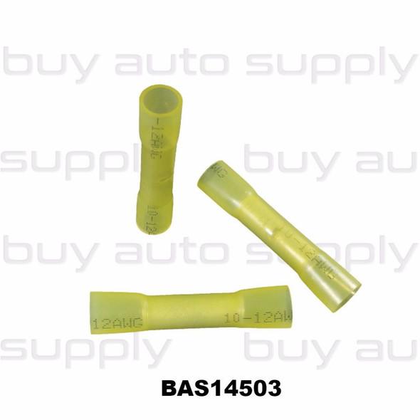 Butt Connectors - Yellow Heat Shrink -12-10 - BAS14503