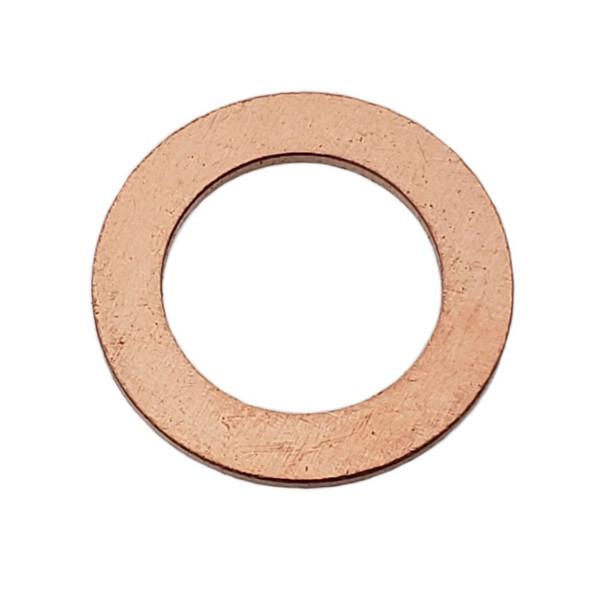 M14 GM Style Copper Drain Plug Gasket - Interchanges: Dorman 095019, GM 94158328, 97227589, Chrysler T3061028, Ford E9DZ-6734-A, F4TZ-6734-A, F4TZ-6734-B