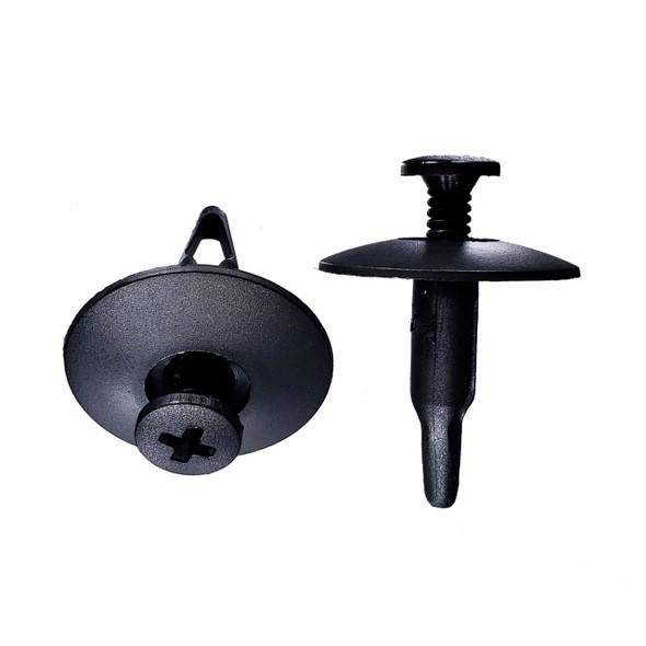 Ford Style Push Retainer Clip - Interchanges - Dorman 961-005, 799-146, 700-552 / Ford N-804837-S / Auveco 14994 / Disco 9509PK / Car-Pak 87-6267 /  W&E  2882