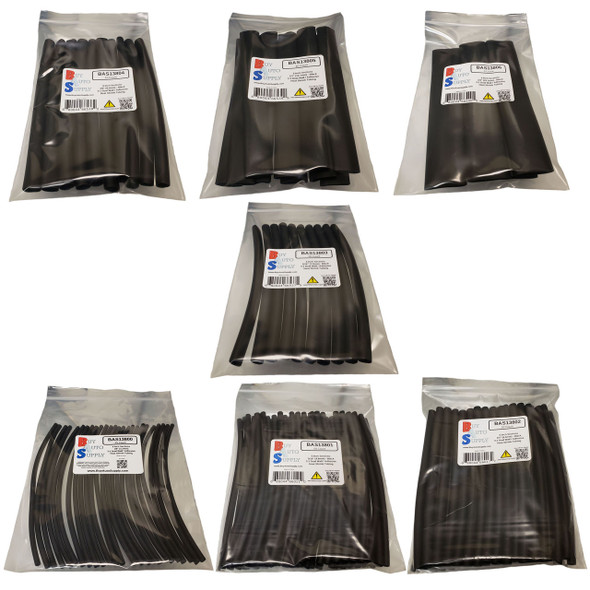 Contents of 3:1 Dual Wall Adhesive Lined Heat Shrink Tube - Starter Kit