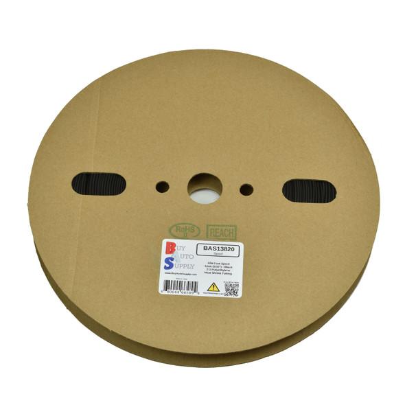 1.0mm - 2:1 Heat Shrink Tube Roll - Black 656 Foot (200 Meters) Wholesale Bulk Roll Pricing