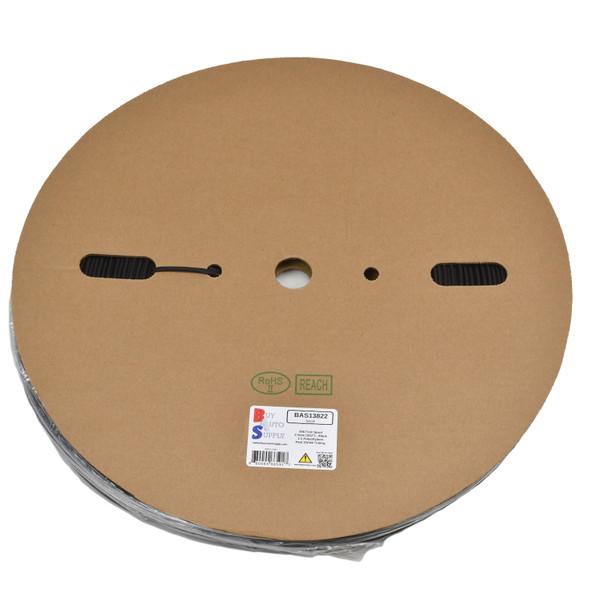 Roll of 2.5mm - 2:1 Heat Shrink Tube - Black 656 Foot (200 Meters) Wholesale Bulk Roll Pricing