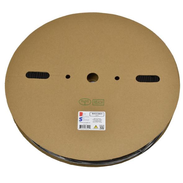 Roll of 3.5mm - 2:1 Heat Shrink Tube - Black 656 Foot (200 Meters) Wholesale Bulk Roll Pricing