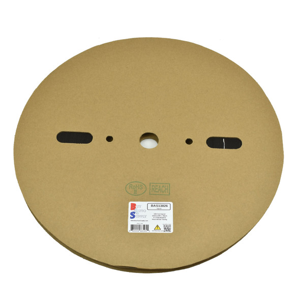 Roll of 10mm - 2:1 Heat Shrink Tube - Black 328 Foot (100 Meters) Wholesale Bulk Roll Pricing