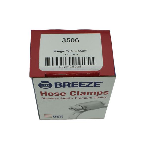 """#06 Mini Hose Clamp - 7/16"""" - 25/32"""" (3506)"""