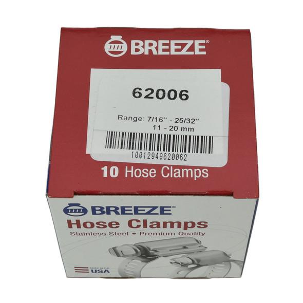 """#06 Hose Clamp - 7/16"""" - 25/32"""" (62006)"""