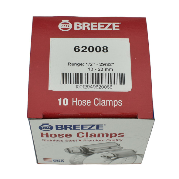 """#08 Hose Clamp - 1/2"""" - 29/32"""" (62008)"""