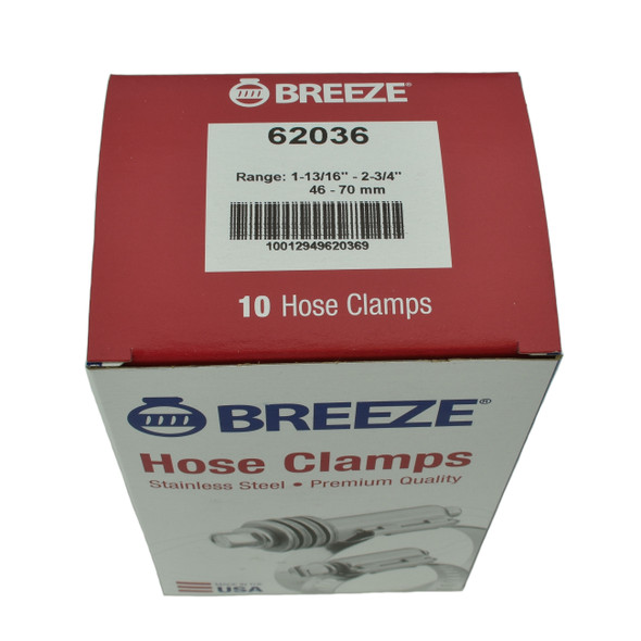 """#36 Hose Clamp - 1-13/16"""" to 2-3/4"""" (62036)"""