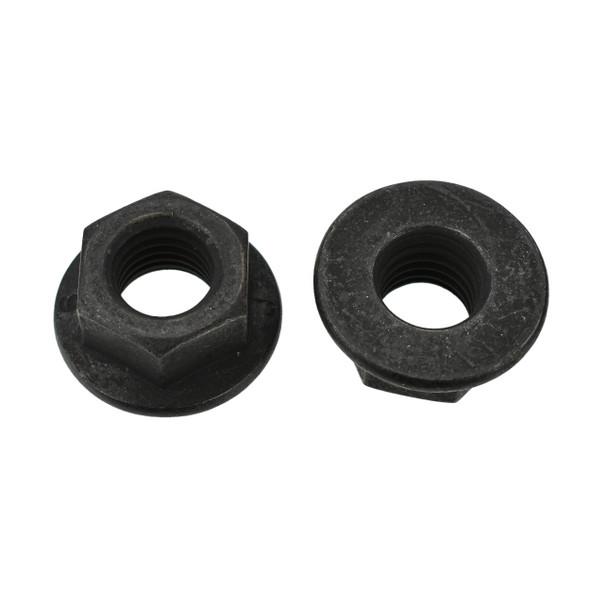 Black Flange Nut - M10-1.5mm - 15mm Hex - 21mm Head - Interchanges: Disco 1017 / Auveco 11645