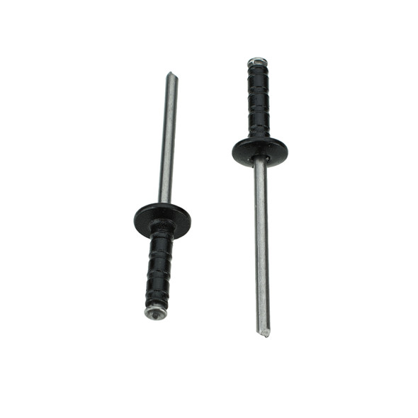 """Black Aluminum & Steel Pop Rivet - 1/8"""" Hole - 5/16"""" Head - Replaces: Disco 9288 / Auveco 17615 / GM 15622490 / Chrysler 6032856"""