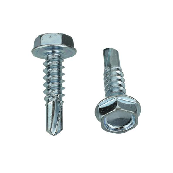 "BAS02589 - Zinc Hex Tek Screw - #10 x 3/4"" - 5/16"" Hex (9346PK)"