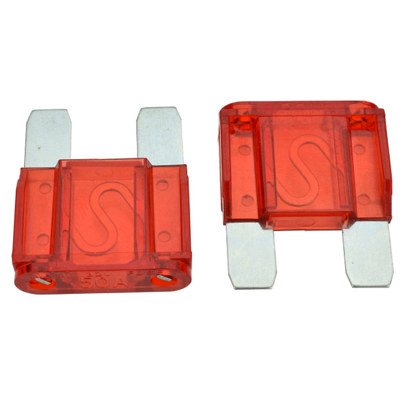 MAXI Fuse, 50 Amp - Fast Acting blade style fuse. For use in Automotive, Boat, RV and Low-Voltage Electrical Systems.