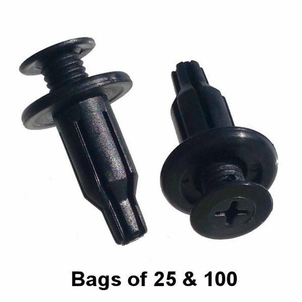 Honda Bumper Push Retainer - Interchange: Auveco 18119 Honda 91502-SP0-003