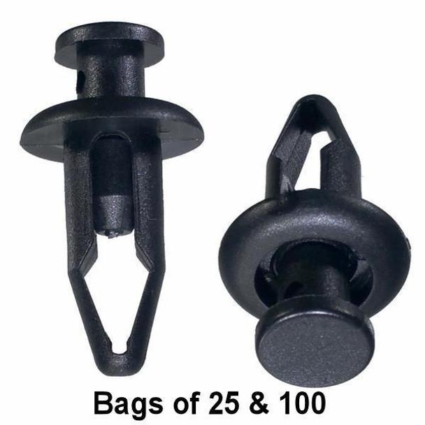 Nissan Push Retainer Clips - Interchange: Auveco 18265 Nissan 76882-57A00