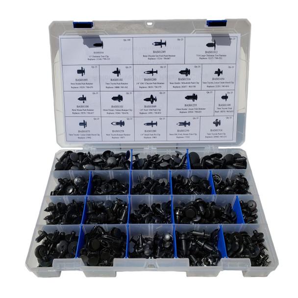APC93047 - Master Clip Kit - 18 Styles / 525 Pieces, Designed for automotive service shops.