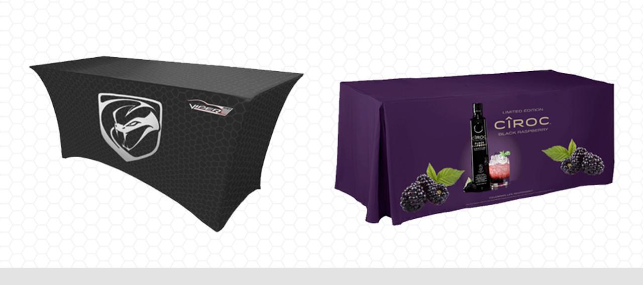 Black viper and purple wine tablecloths