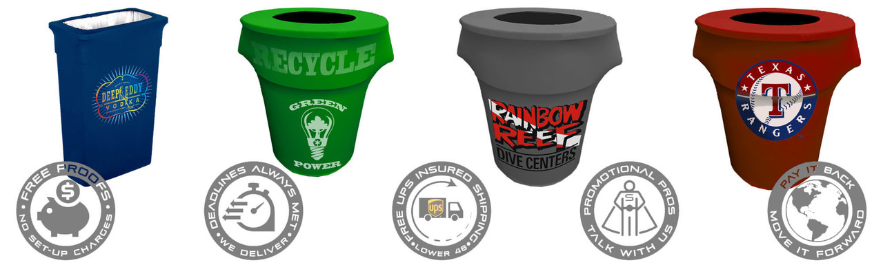 Printed Trash Can Covers