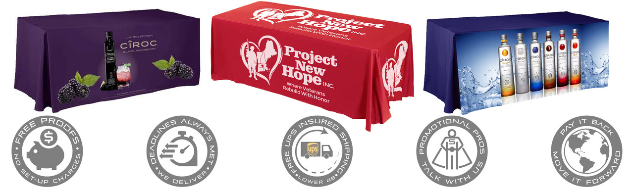 5 Ft Printed Table Covers
