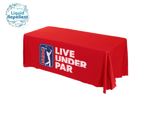 Golf tournament printed table cover liquid repellent
