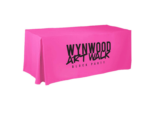 Neon pink custom tablecloth