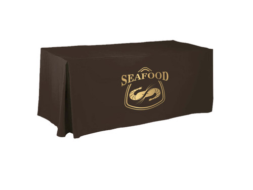 metallic gold printed tablecloth