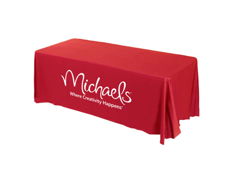 Art display printed table cover