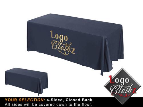 Midnight Logoclothz printed table throw