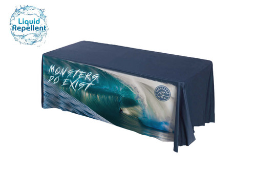 logo tablecloth promotional water resistant table throw