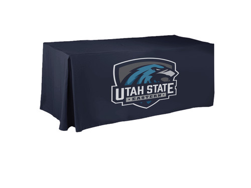 logo tablecloth university print