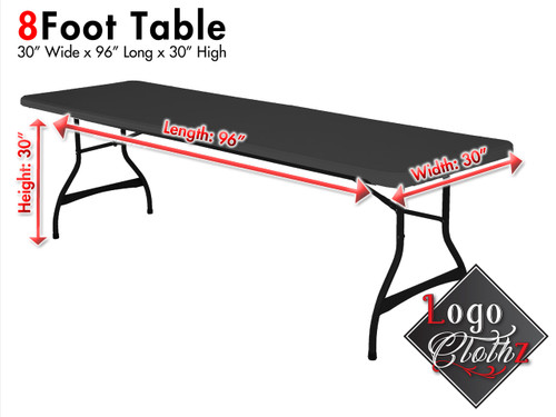 standard 8 foot table dimensions