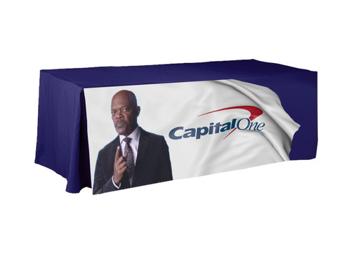 8ft full color printed tablecloth