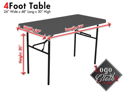 """4 foot standard 24"""" width table"""