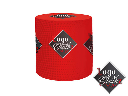 red round table cover