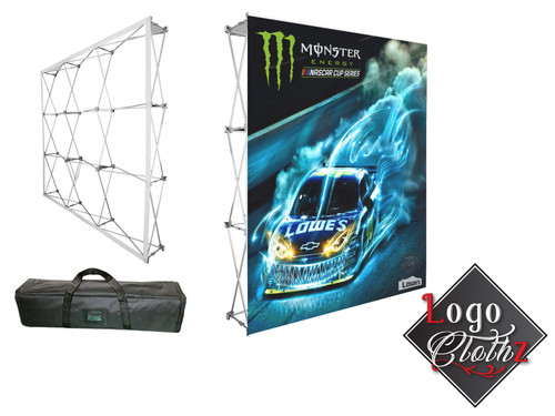Monster energy pop up banner media wall