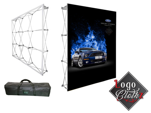 Pop up media wall with full color graphic