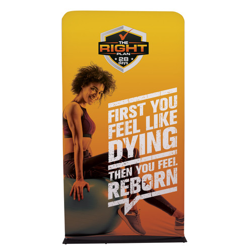 Straight on photo 4 foot wide banner display