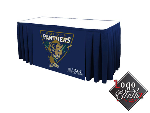 Florida International University Logo Printed Box Pleat Table Skirt United States