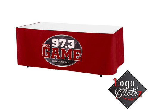 Radio Station Promotional Printed Red Table Wrap