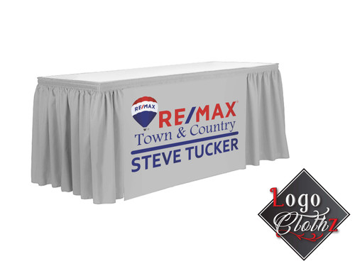Reemax Promotional Printed Table Wrap Gray Fabric Color