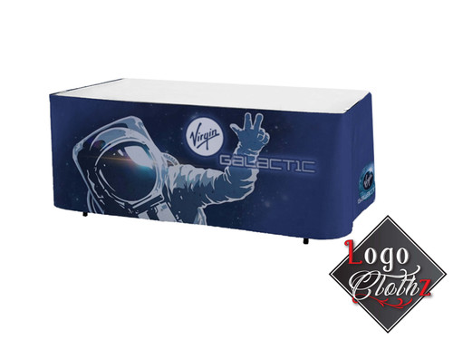 Full Color Printed Table Wrap No Pleating Virgin Galactic Promo
