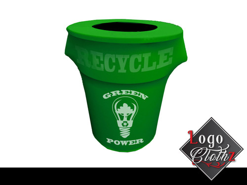 custom eco recycle trash can covers custom printed