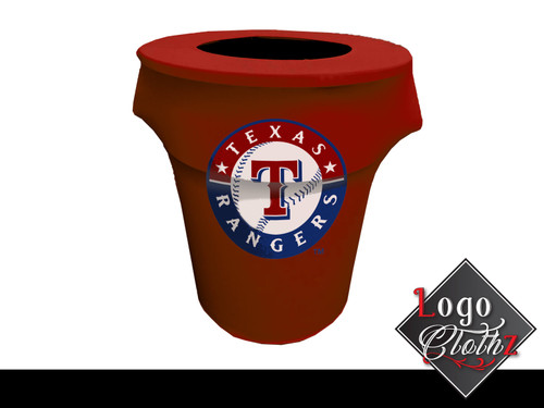 Full Color Printed 32-Gal Garbage Can red