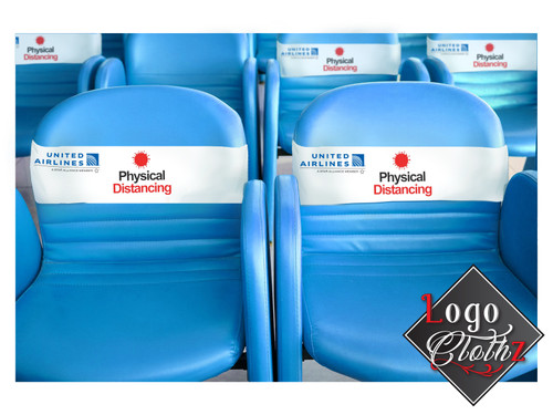 Social Distancing chair bands with your logo